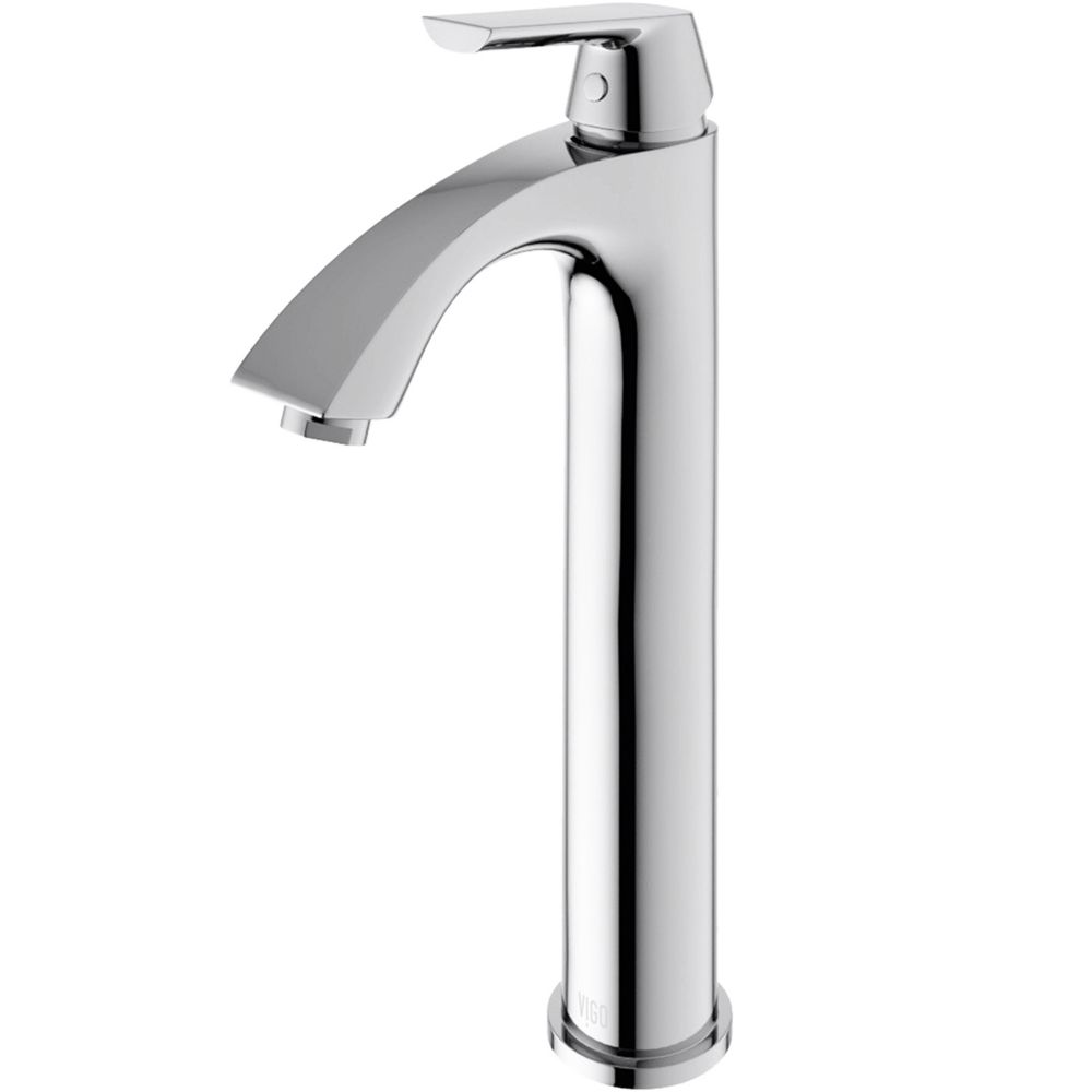 bathroom sink faucets at home depot vigo linus bathroom vessel faucet in chrome the home 24948