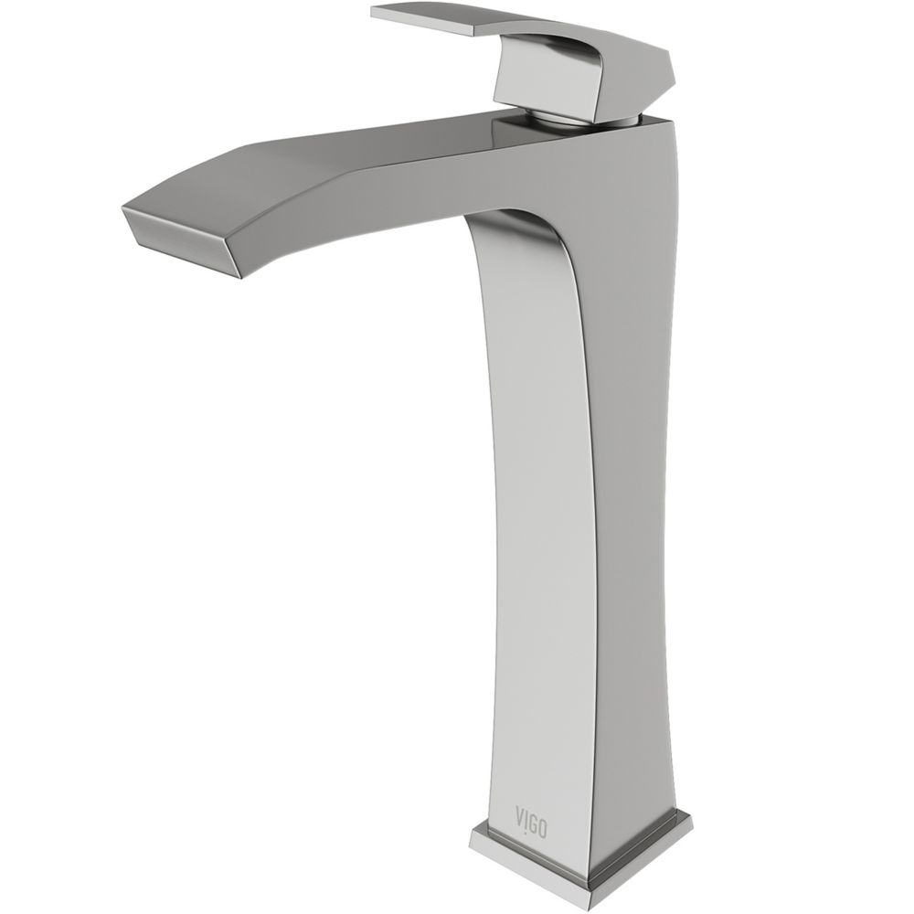Blackstonian Bathroom Vessel Faucet in Brushed Nickel Finish