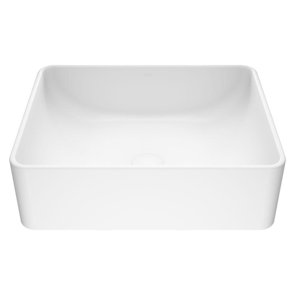Caladesi Composite Vessel Sink in Matte White