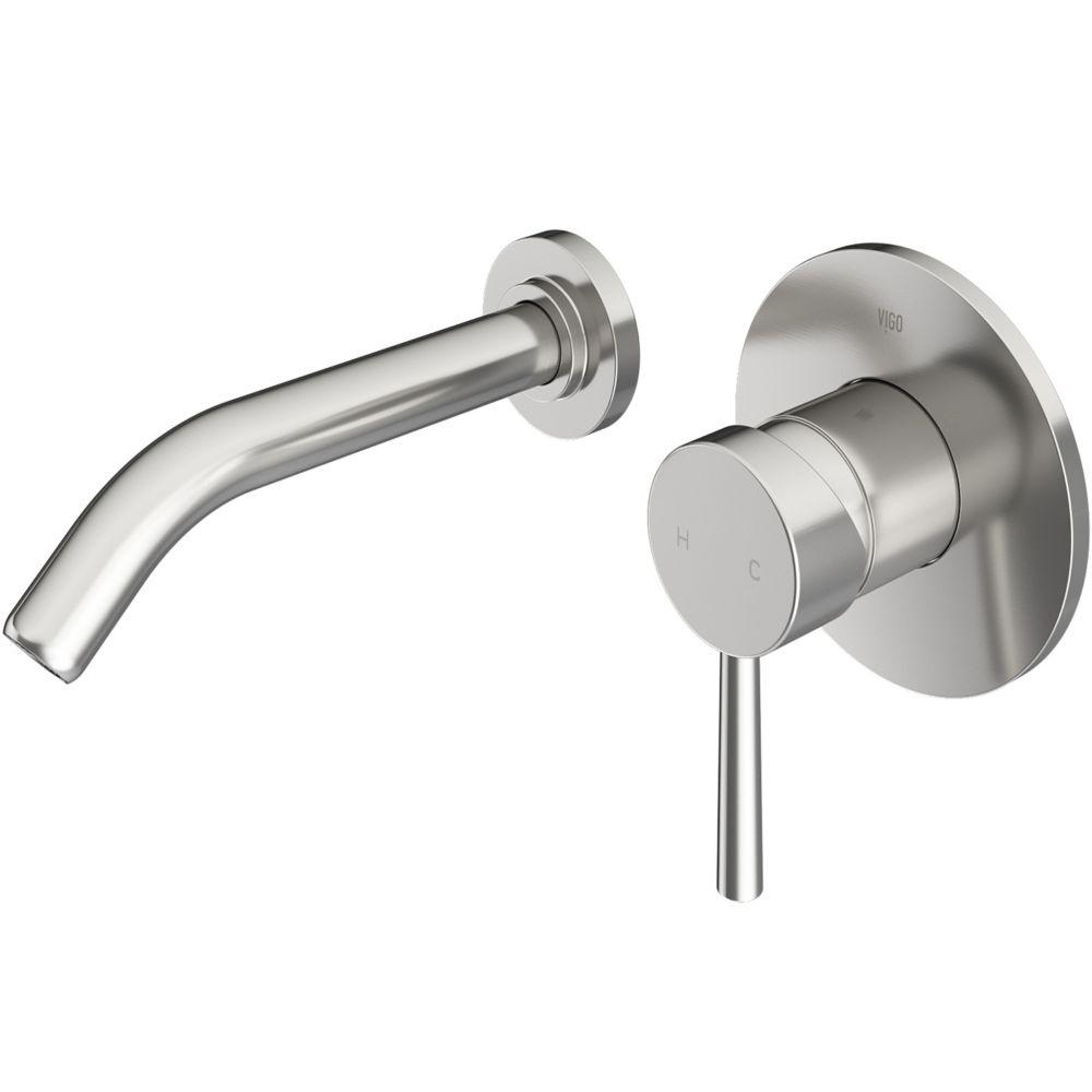 Olus Bathroom Wall Mount Faucet in PVD Brushed Nickel