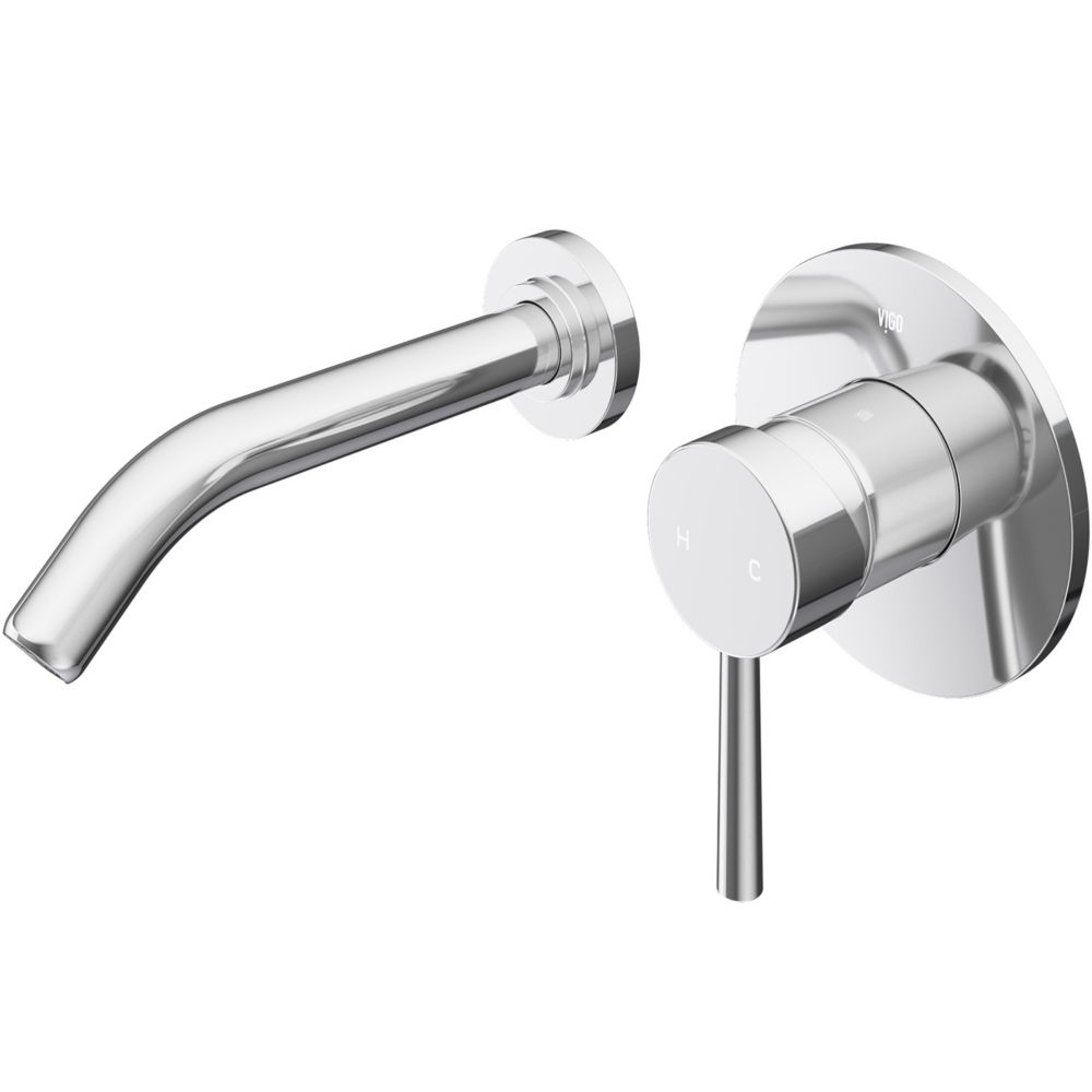 Olus Bathroom Wall Mount Faucet in Chrome