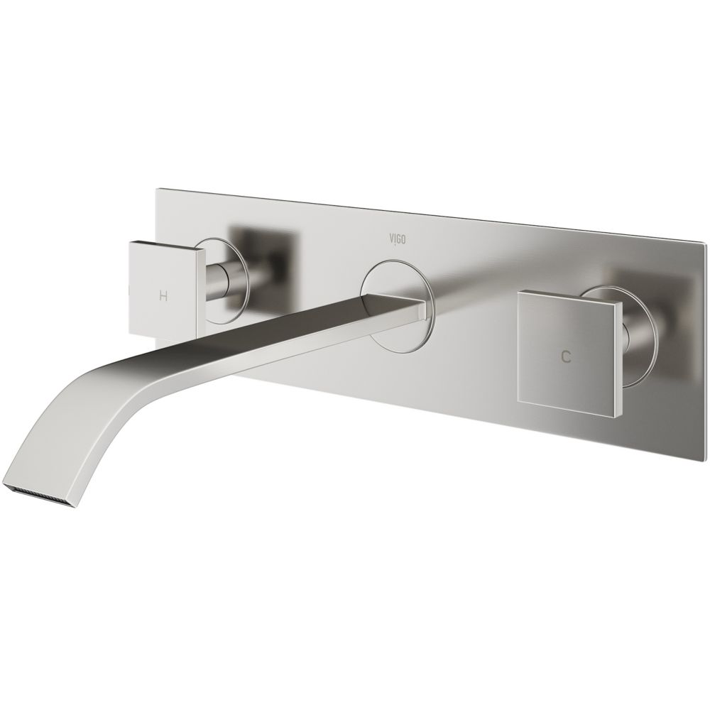 Titus Bathroom Wall Mount Faucet in PVD Brushed Nickel