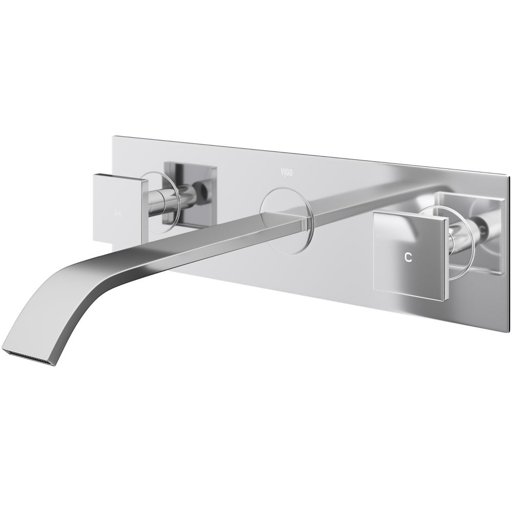 Titus Bathroom Wall Mount Faucet in Chrome