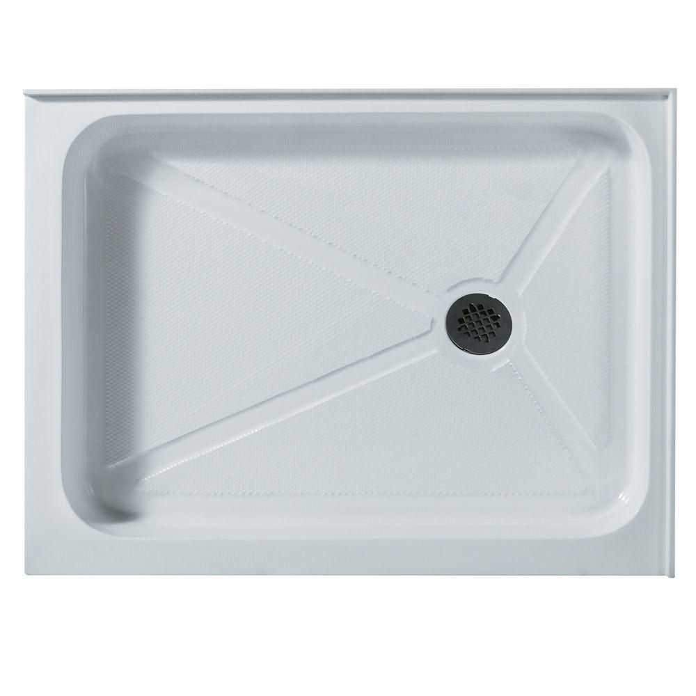 White Shower Tray 32 Inch by 40 Inch Rectangular Right Drain VG06019WHT3240R Canada Discount