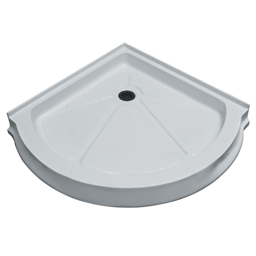White Shower Tray 36 Inch by 36 Inch Round VG06039WHT36 Canada Discount