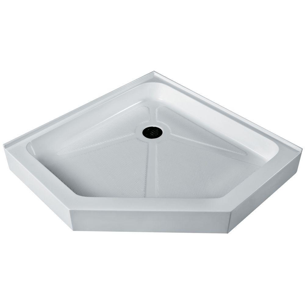 38 x 38 Neo-Angle Shower Tray White