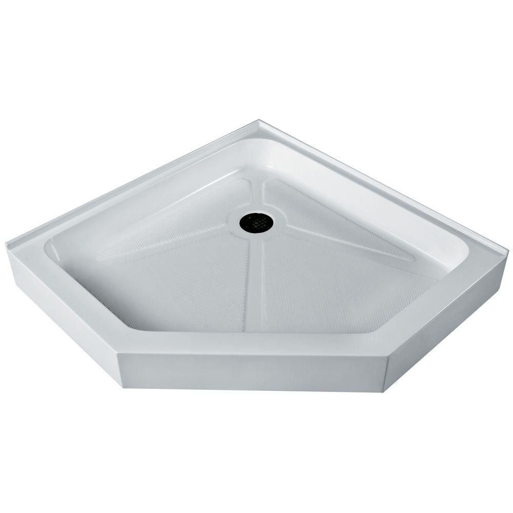 White Shower Tray 47 Inch by 47 Inch Neo Angle