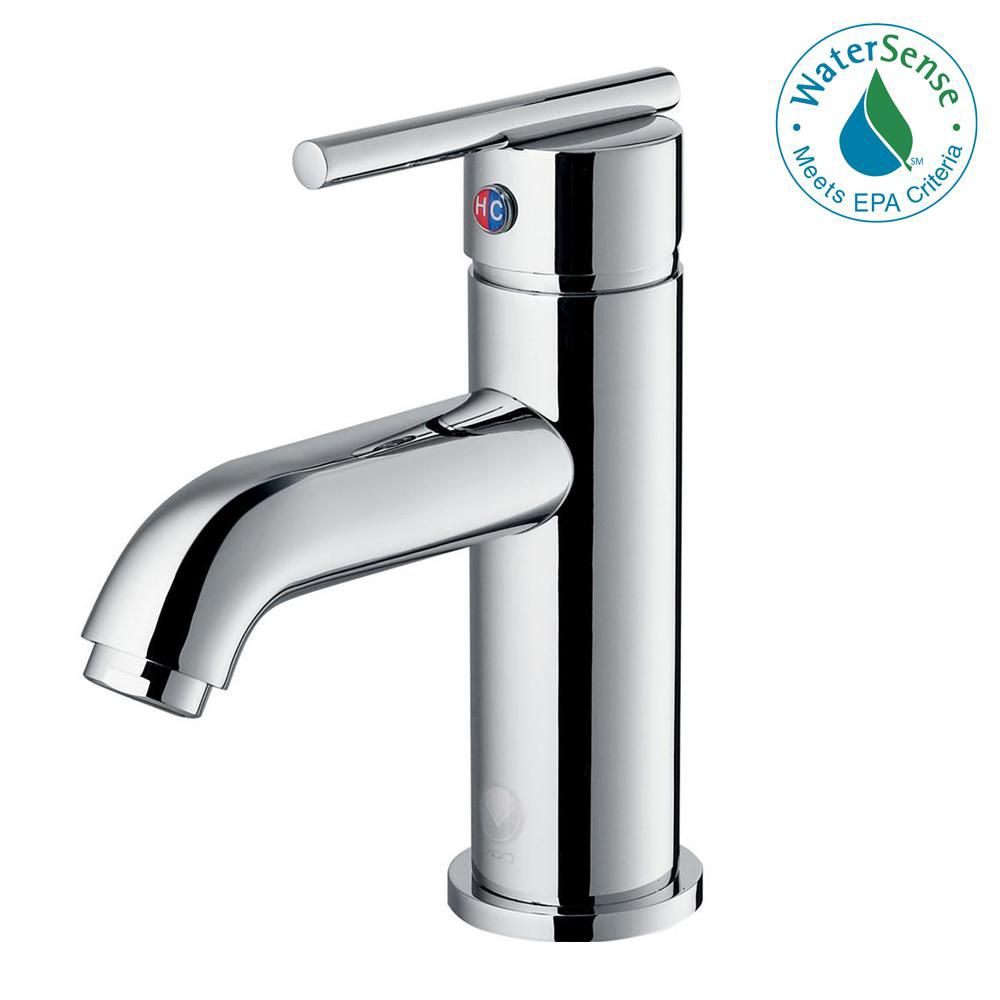 Single-Lever Bathroom Faucet in Chrome Finish