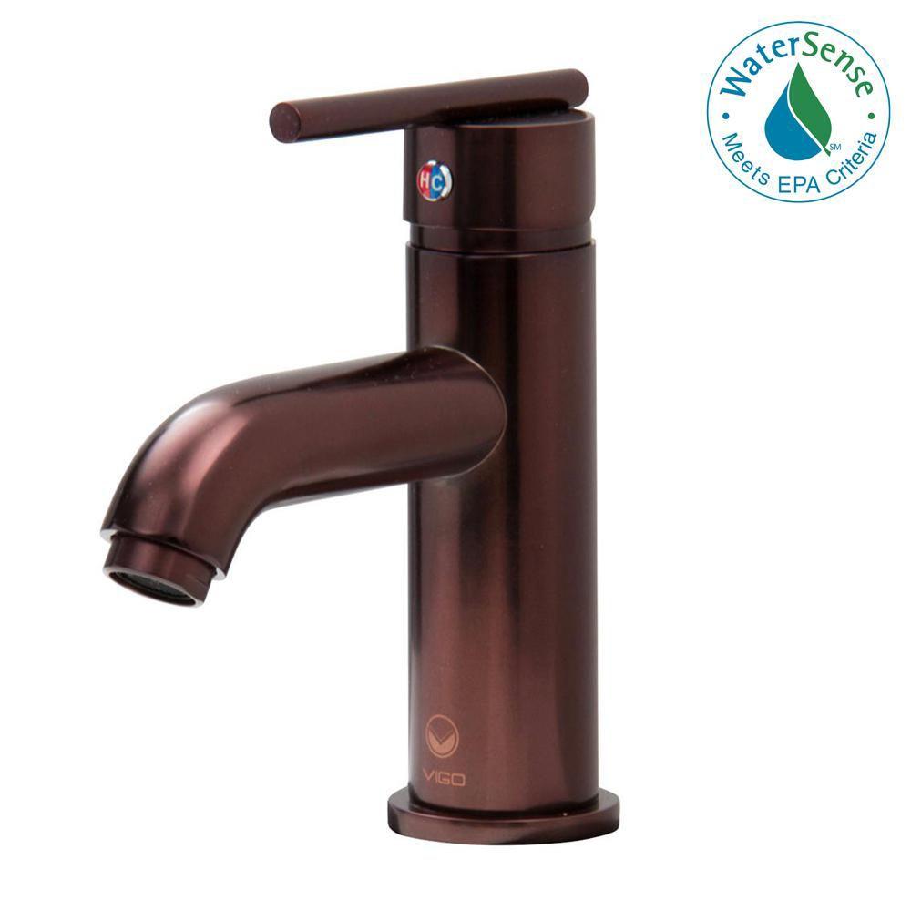 Setai Bathroom Single Hole Faucet in Oil Rubbed Bronze