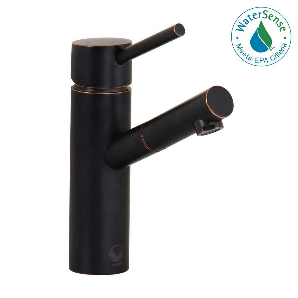 Noma Bathroom Single Hole Faucet in Antique Rubbed Bronze with Pop Up