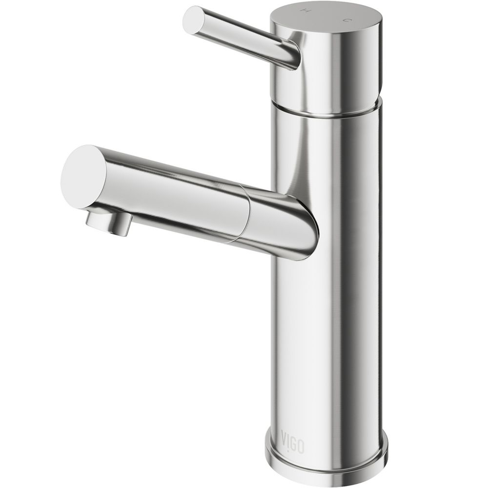 Noma Bathroom Single Hole Faucet in PVD Brushed Nickel