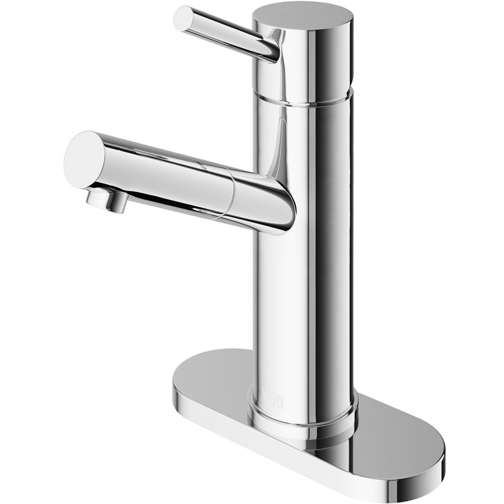 Chrome Single Lever Bathroom Faucet with Deck Plate VG01009CHK1 in Canada
