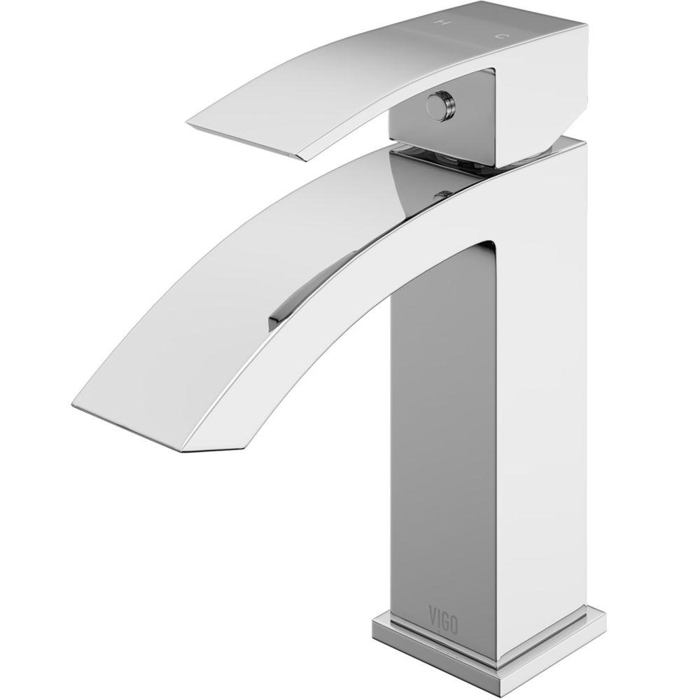 Robinet de salle de bain monocommande en chrome