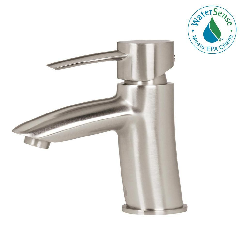 Single-Lever Bathroom Faucet in Brushed Nickel Finish