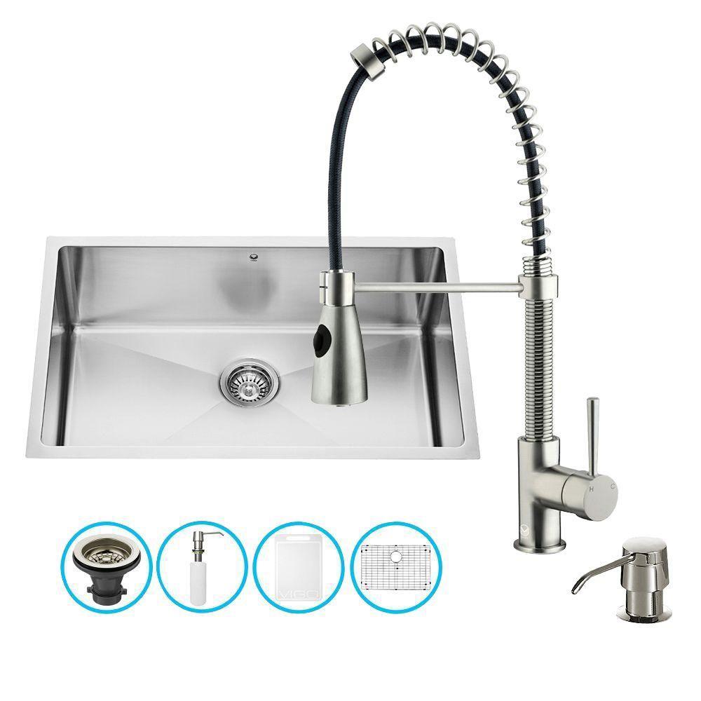 Ensemble Undermount en acier inoxydable, évier et robinet, 30 pouces