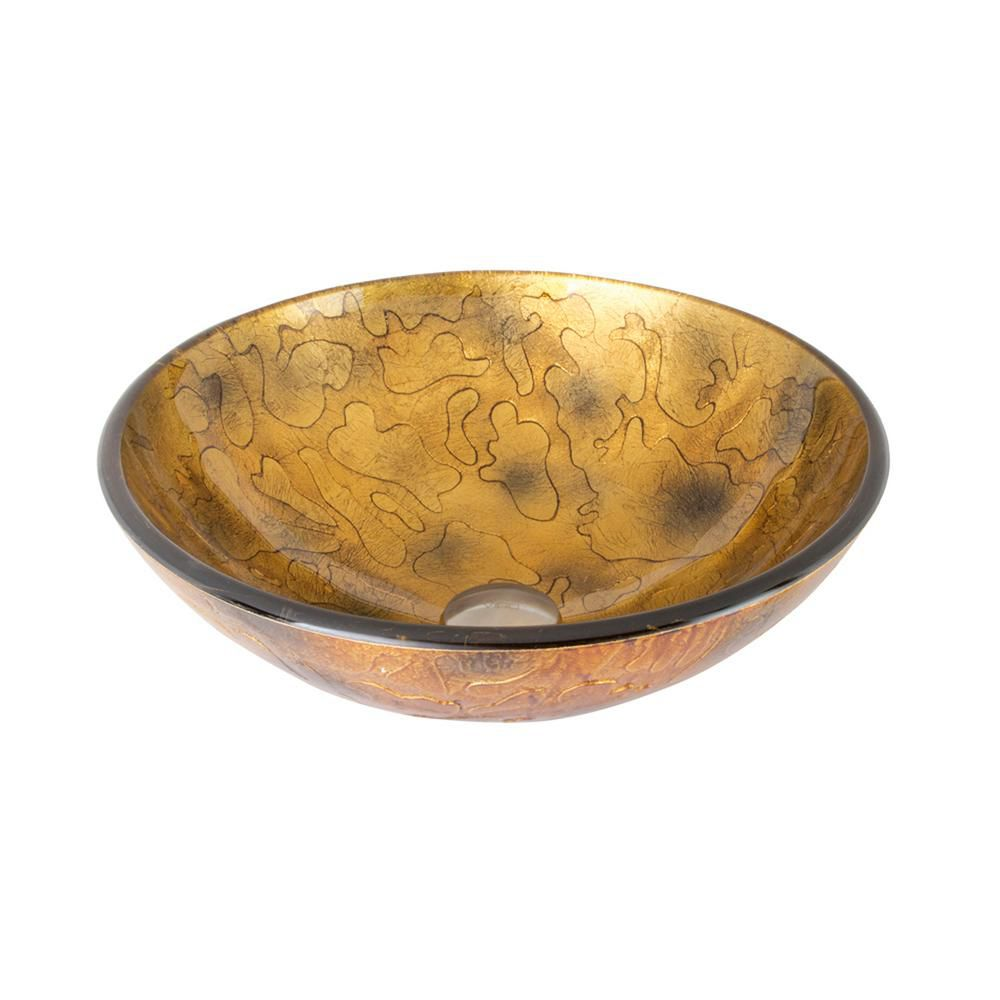Glass Vessel Sink in Copper