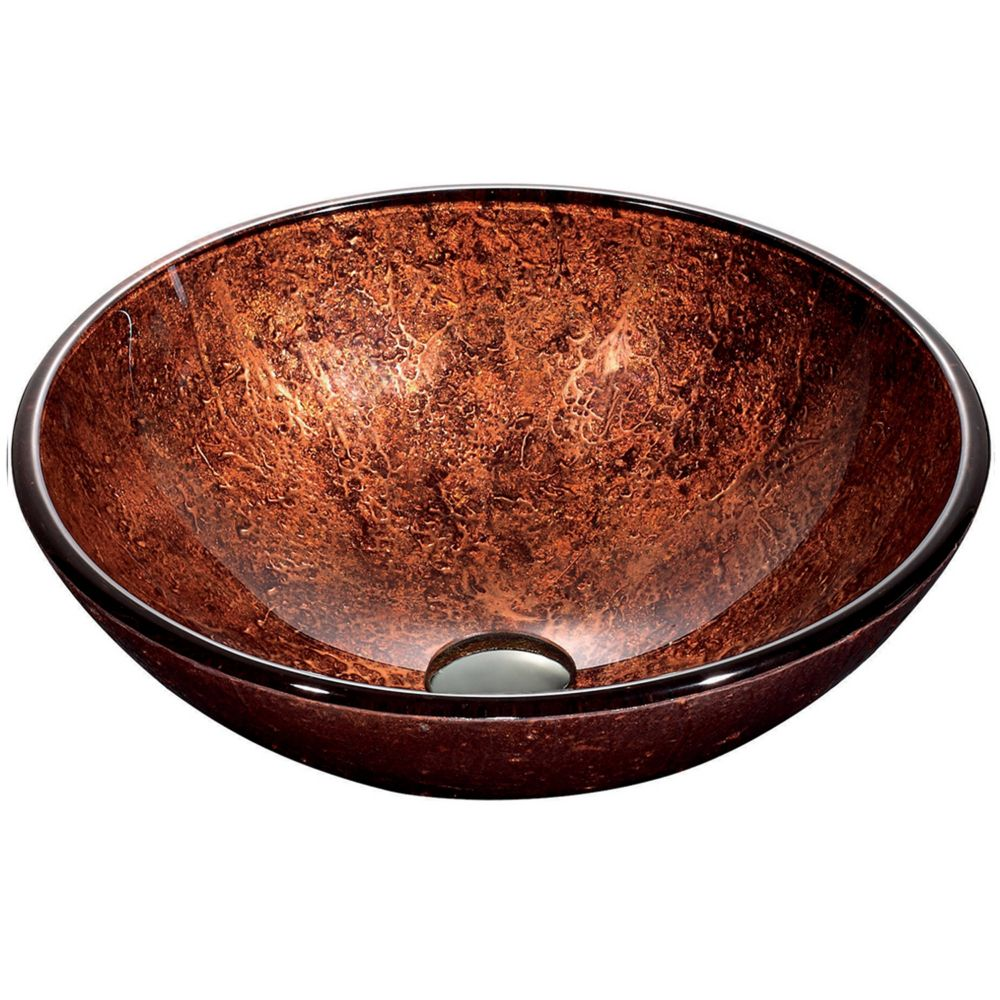 Mahogany Moon Glass Vessel Sink