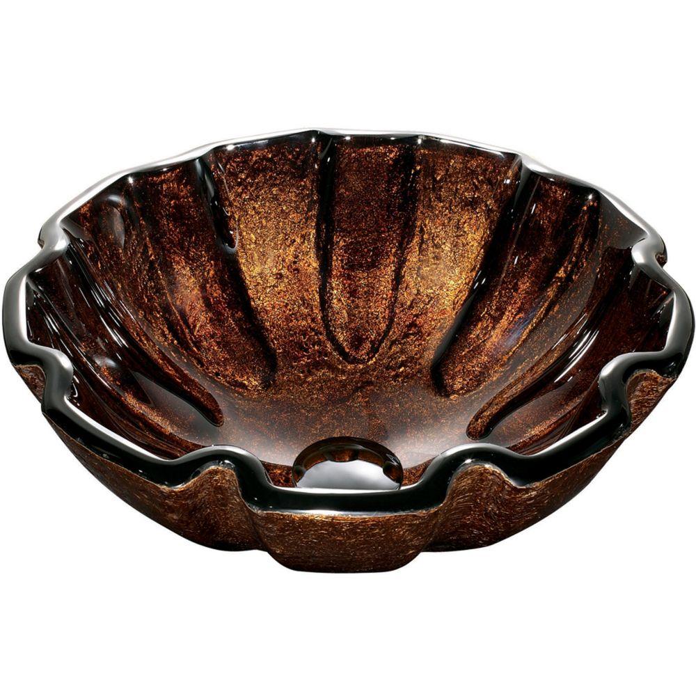 Lavabo en verre  Walnut Shell