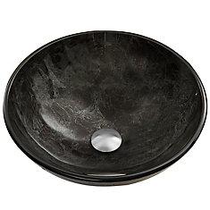 Glass Vessel Sink in Gray Onyx