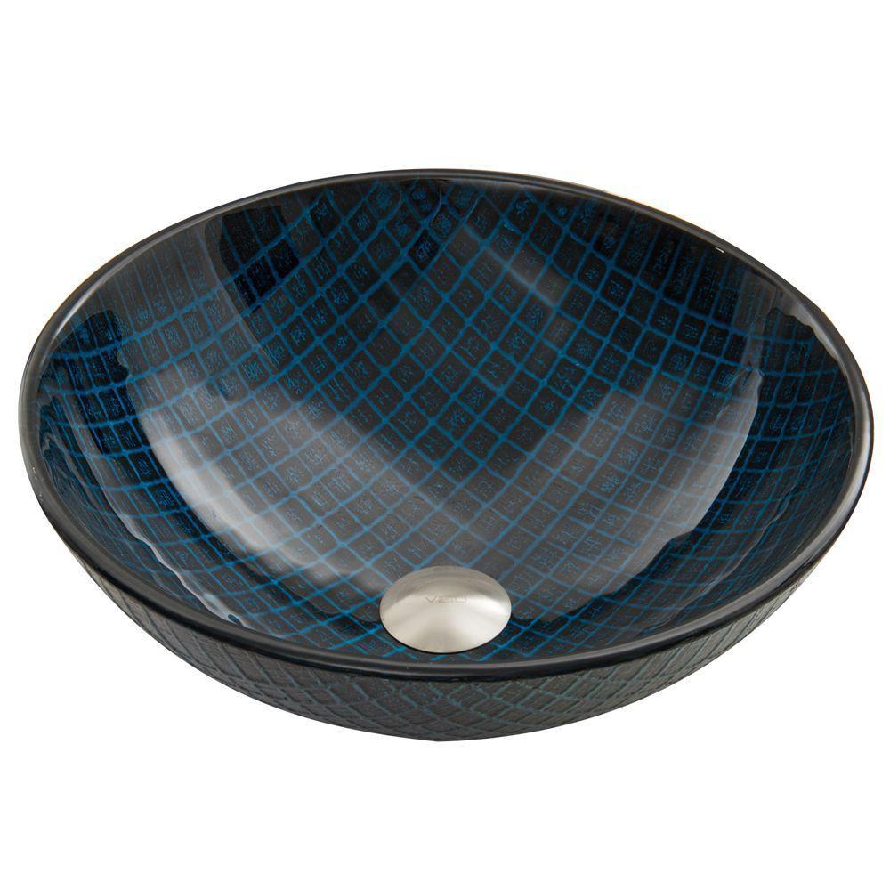 Lavabo en verre Blue Matrix