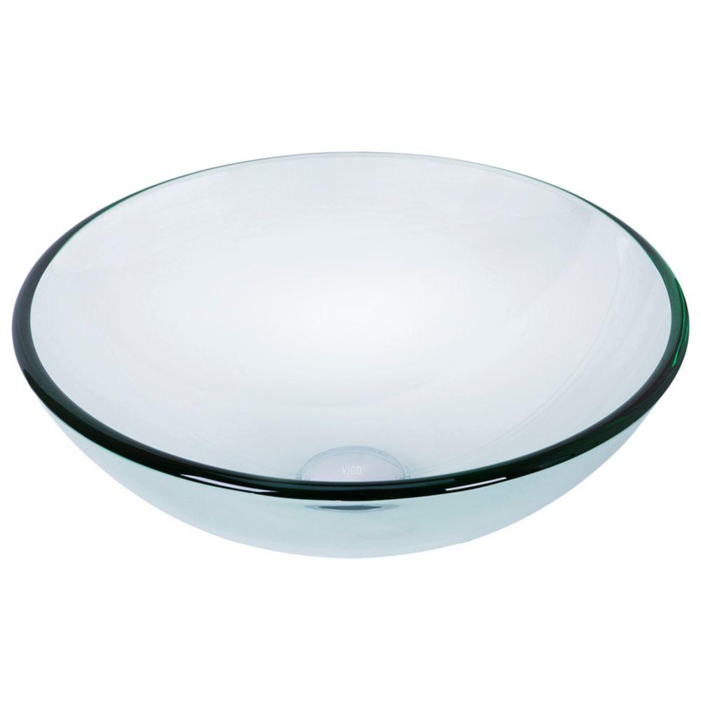 Crystalline Glass Vessel Sink