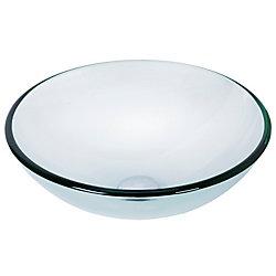 VIGO Vasque de salle de bains en verre Crystal