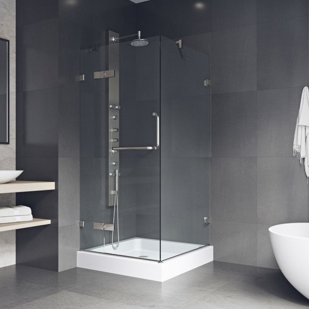 Vigo Vigo 32 Inch X 32 Inch Frameless Shower Stall In