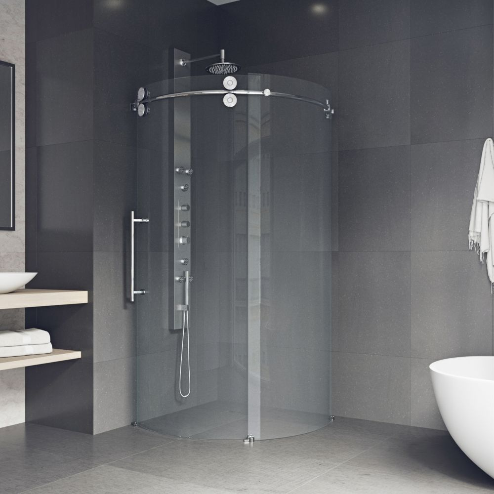 Vigo VIGO 36-Inch x 36-Inch Frameless Shower Stall in Clear with ...