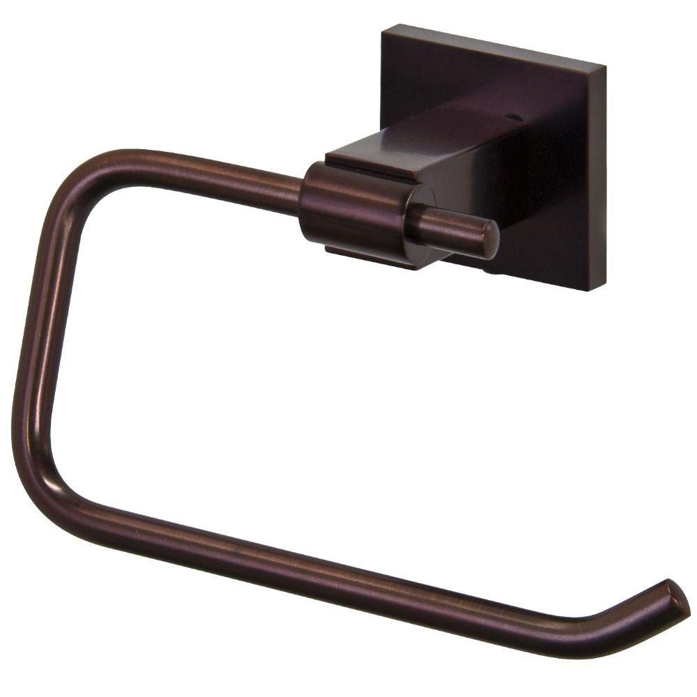 Oil Rubbed Bronze Allure Square Design Single Post Toilet Tissue Holder