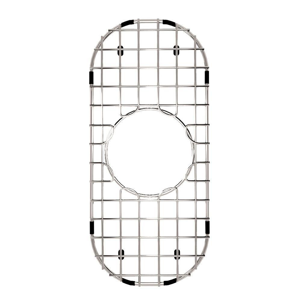 Grille de fond d'évier en chrome 6 3/4 pouces x 14 pouces