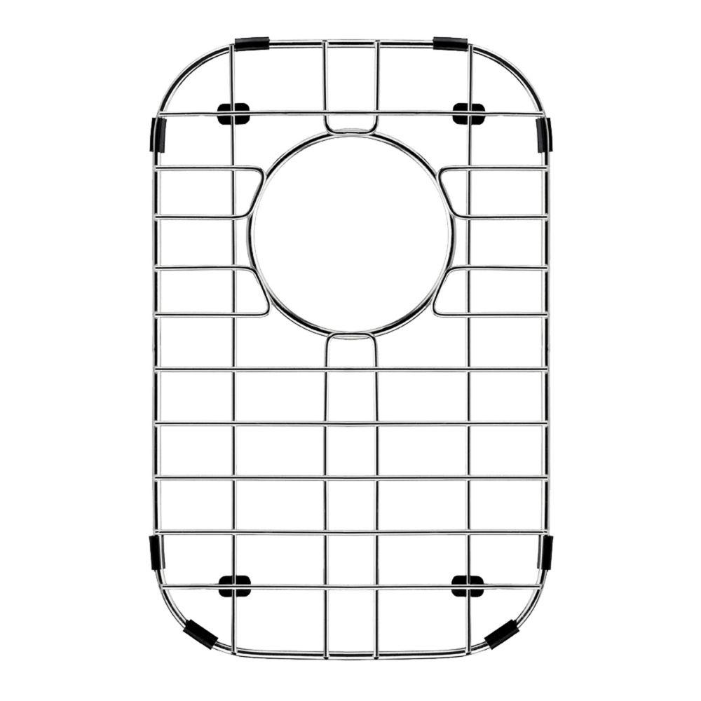 Grille de fond d'évier en chrome 9 pouces x 14 pouces
