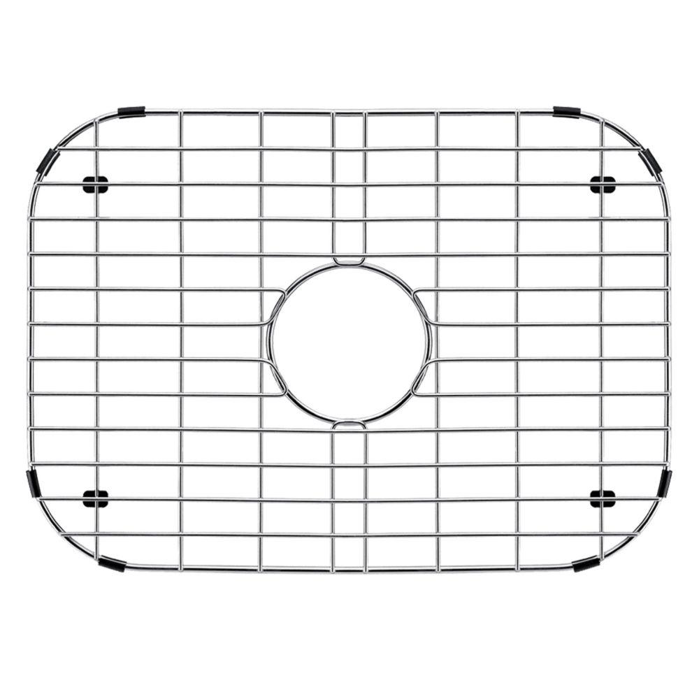 Grille de fond d'évier en chrome 18 pouces x 13 pouces