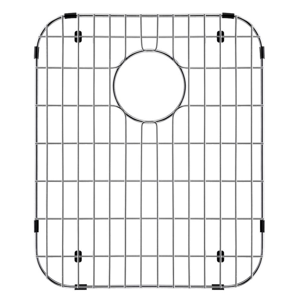 Grille de fond d'évier en chrome 12 1/4 pouces x 14 1/4 pouces