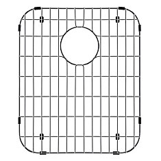 12.25-inch x 14.25-inch Kitchen Sink Bottom Grid in Chrome-Plated Stainless Steel