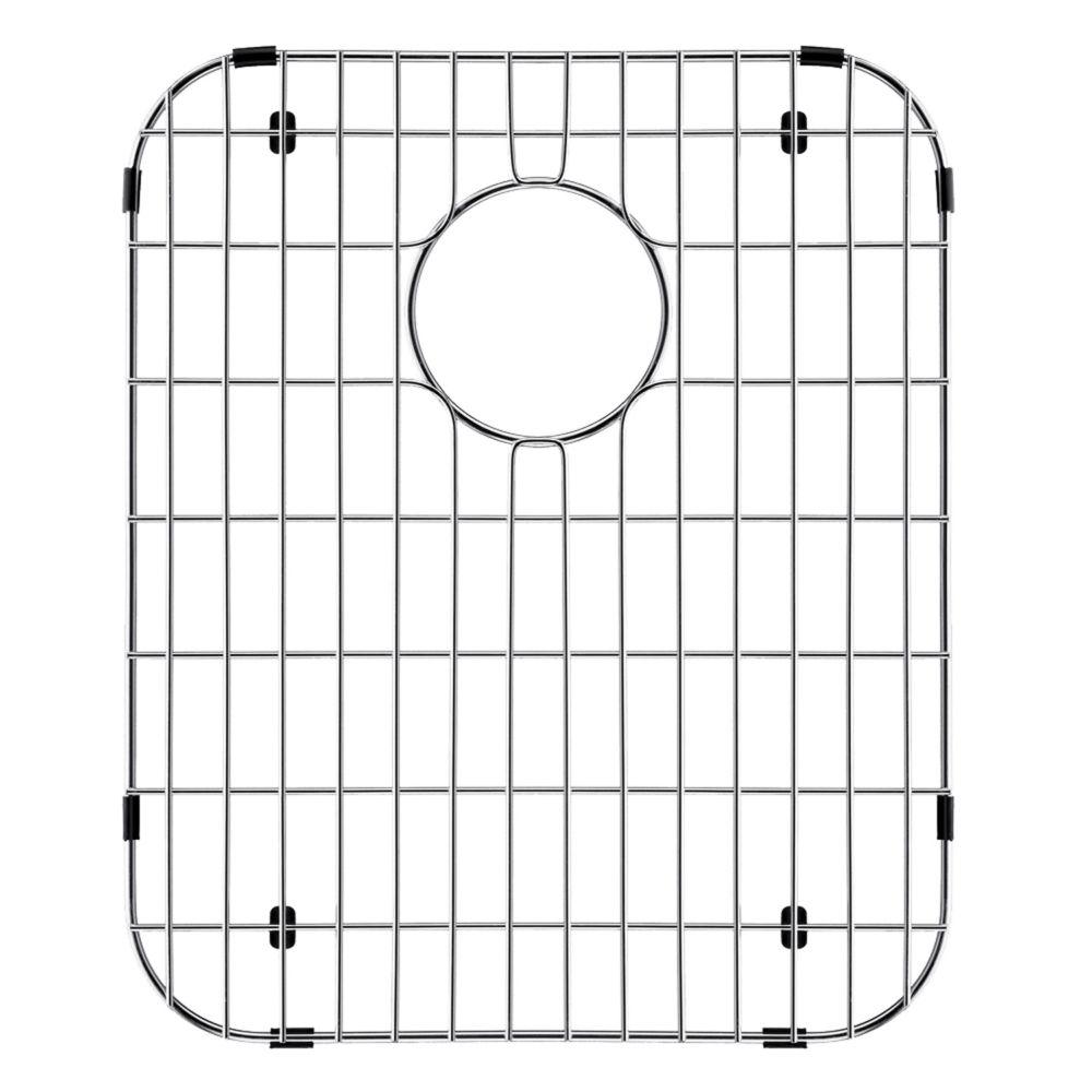 Grille de fond d'évier en chrome 14 pouces x 17 1/8 pouces