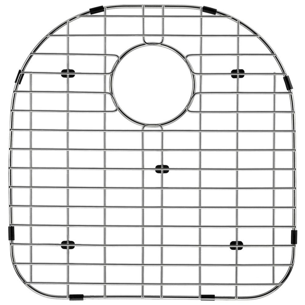 Grille de fond d'évier en chrome 15 pouces x 16 pouces
