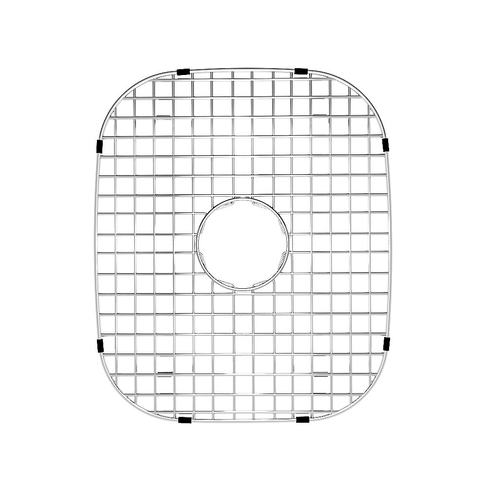 Grille de fond d'évier en chrome12 pouces x 13 7/8 pouces