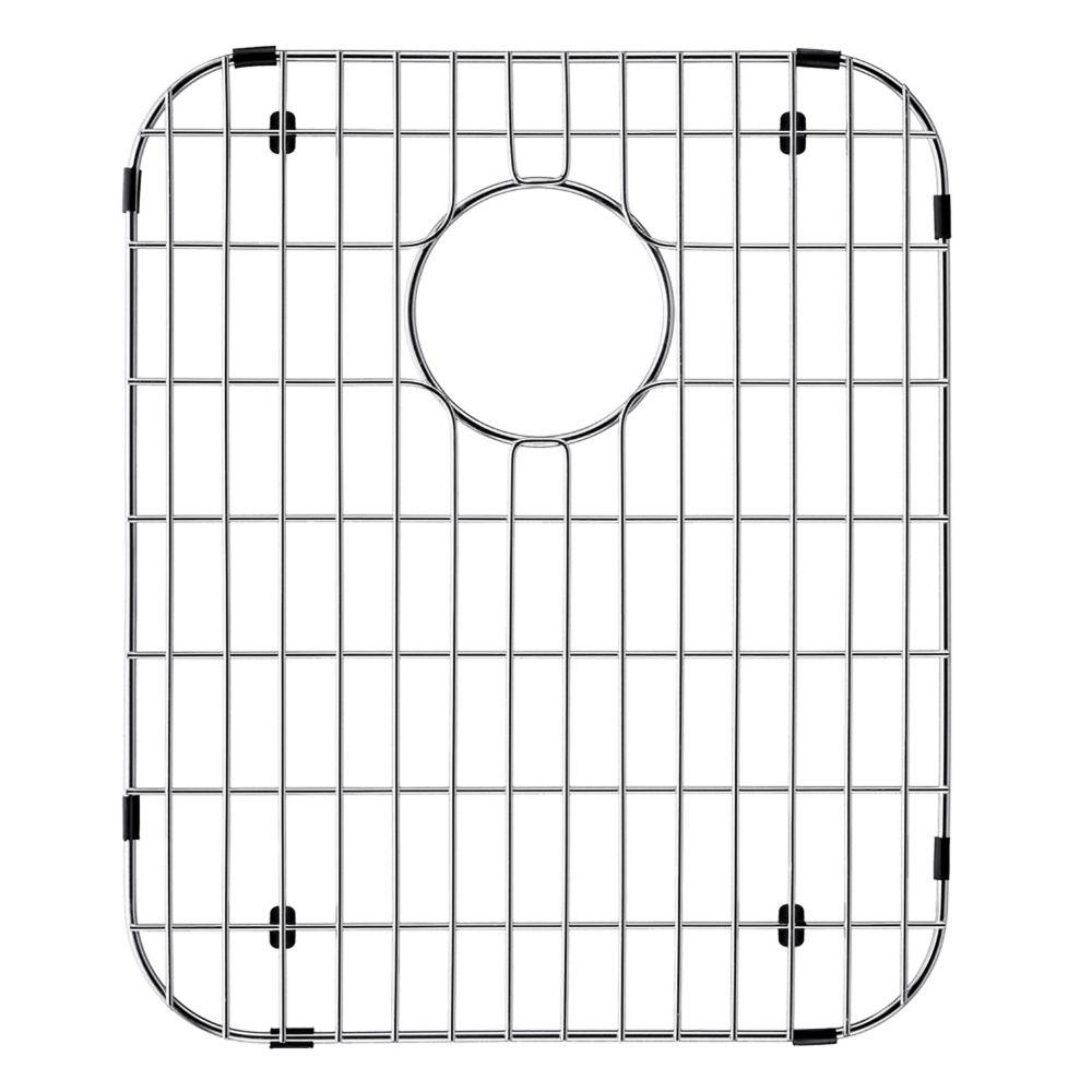 Grille de fond d'évier en chrome 13 1/2 pouces x 16 1/2 pouces