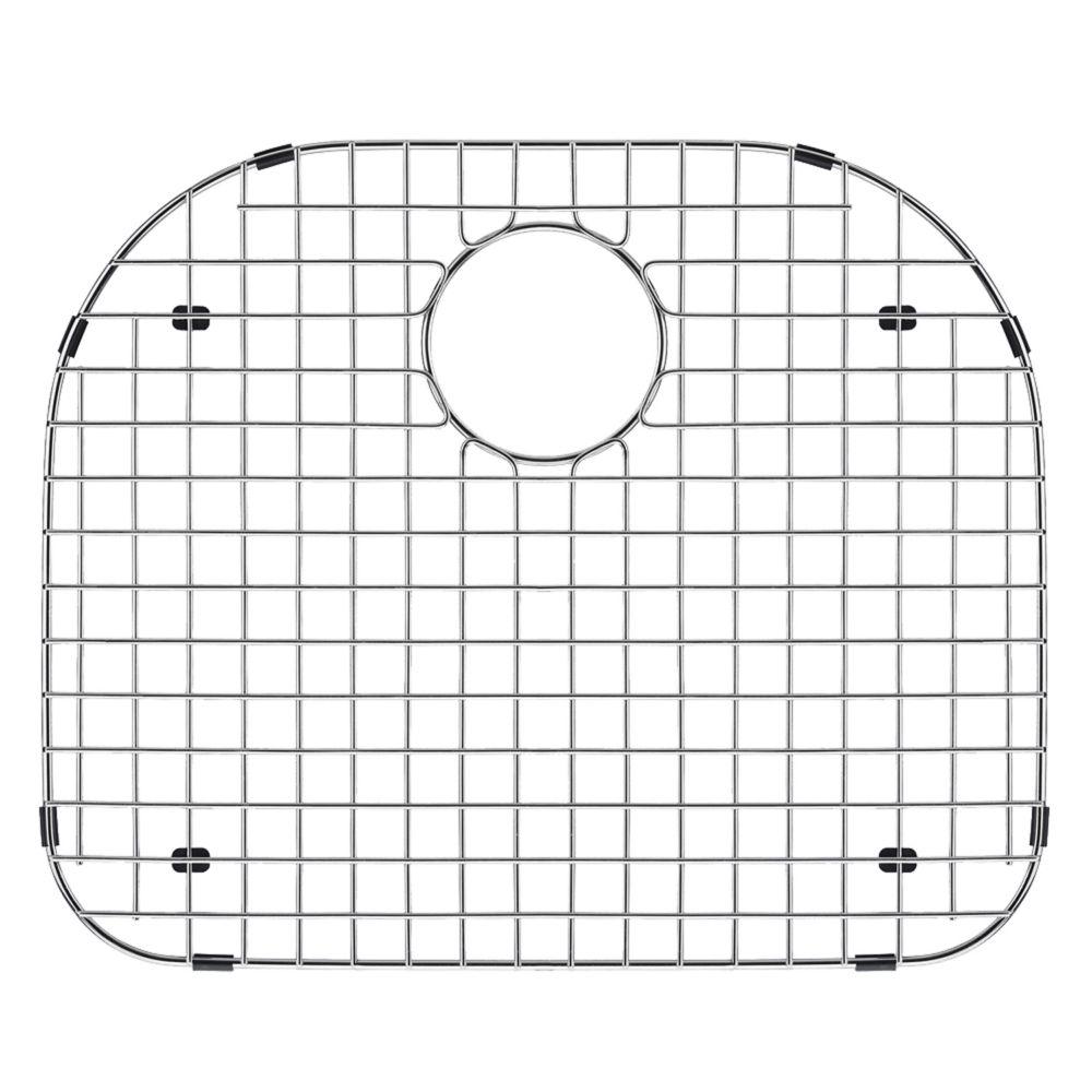 Grille de fond d'évier en chrome  19 1/4 pouces x 16 5/8 pouces