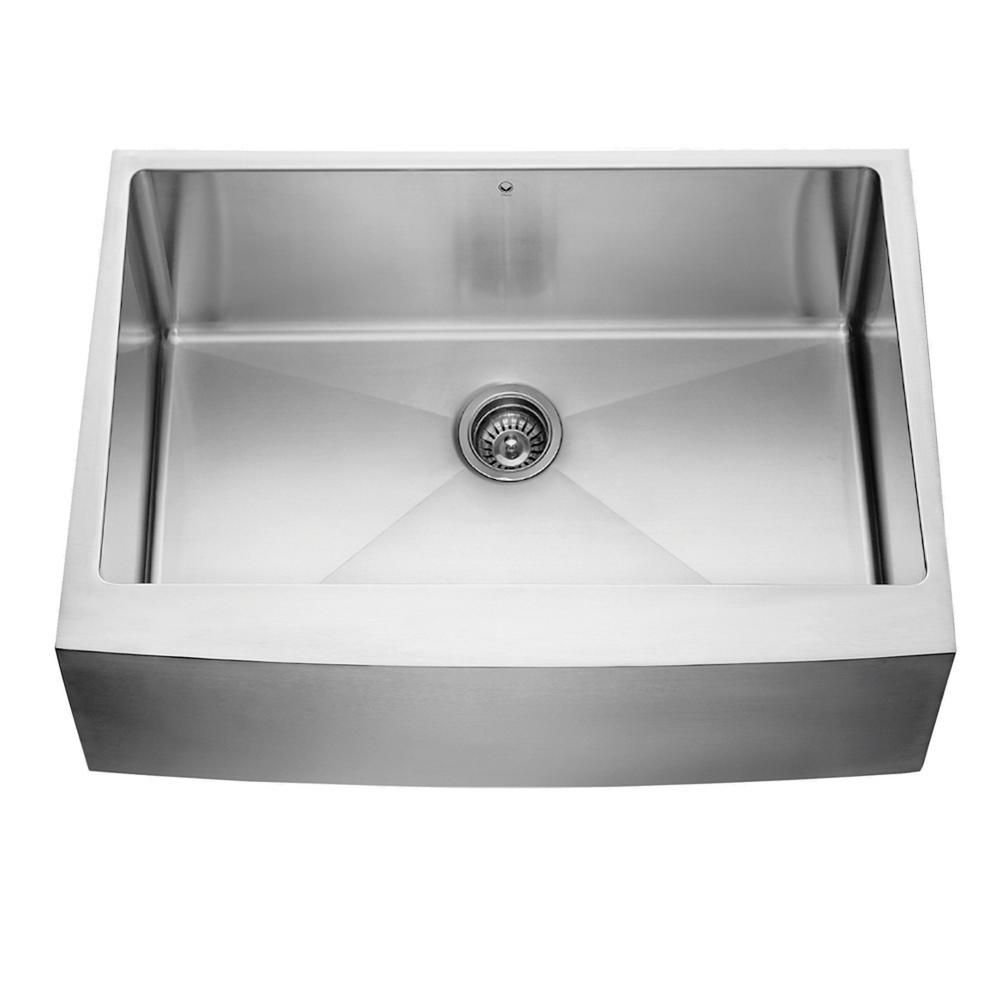 Stainless Steel Farmhouse Single Bowl Kitchen Sink 30 Inch 16 gauge
