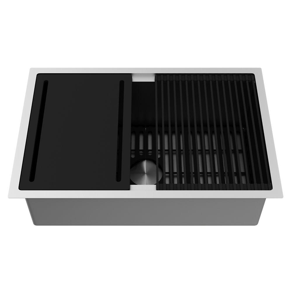 Stainless Steel Farmhouse Single Bowl Kitchen Sink 30 Inch 16 gauge