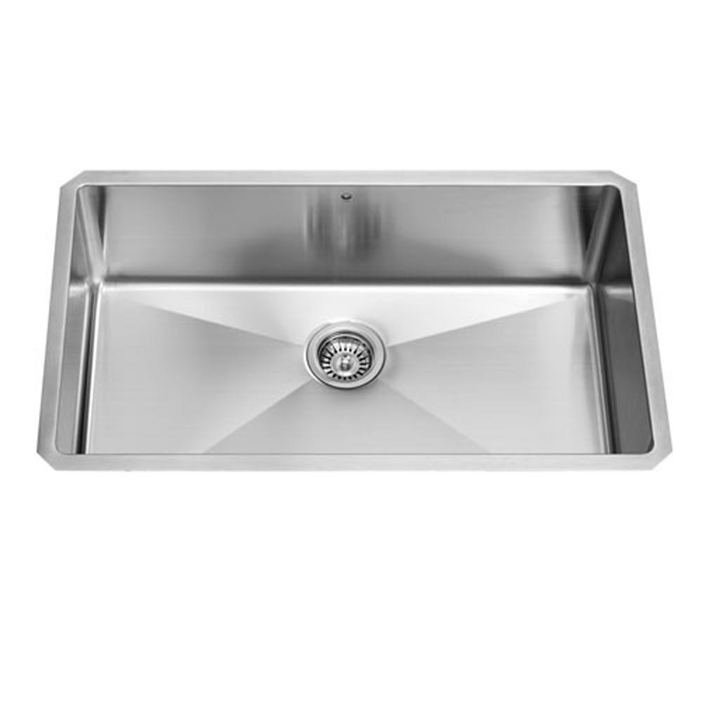 Stainless Steel Undermount Kitchen Sink 32 Inch 16 gauge