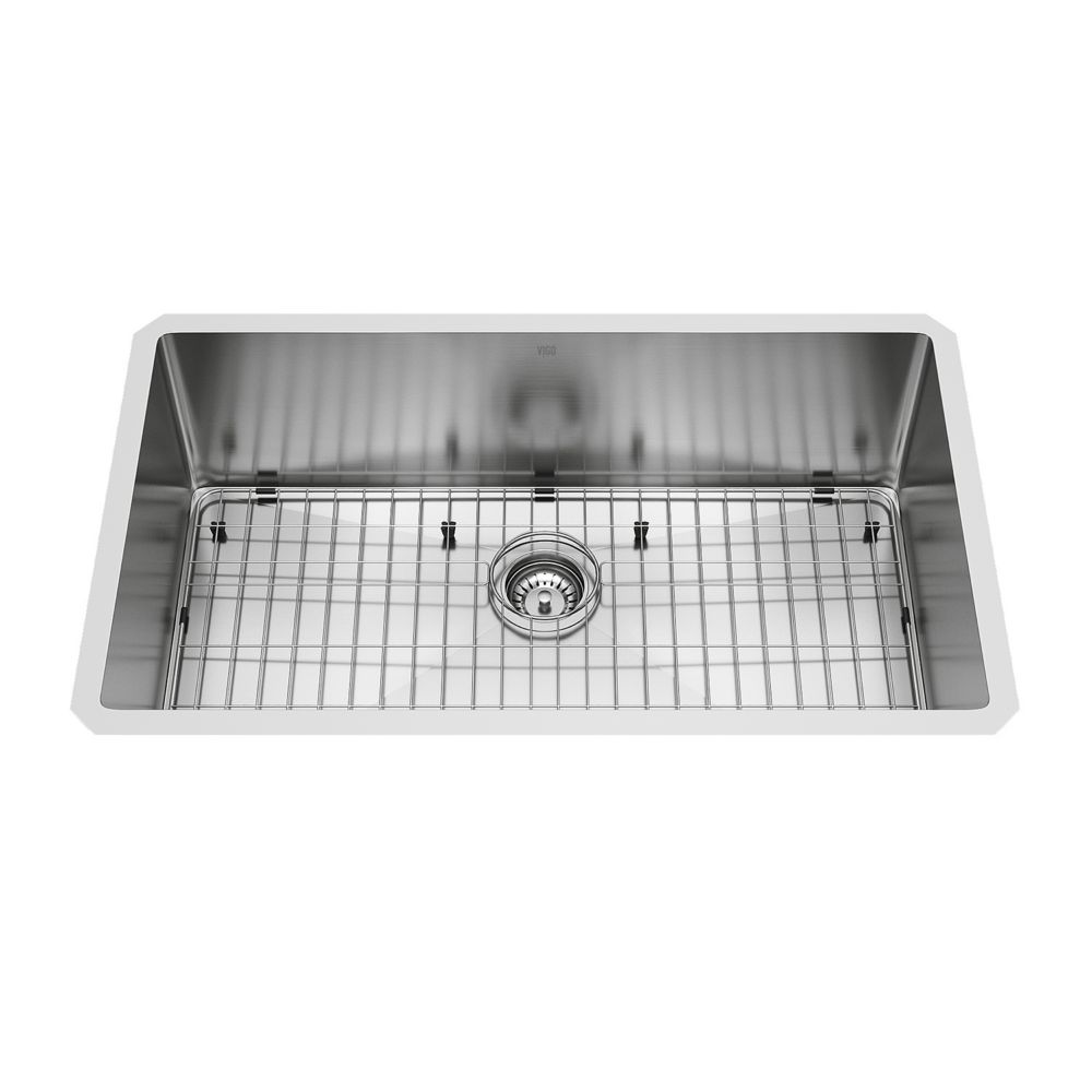 Stainless Steel Undermount Kitchen Sink Grid and Strainer 32 Inch 16 gauge