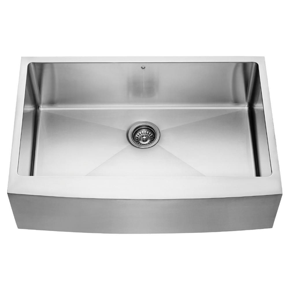 Stainless Steel Farmhouse Single Bowl Kitchen Sink 33 Inch 16 gauge