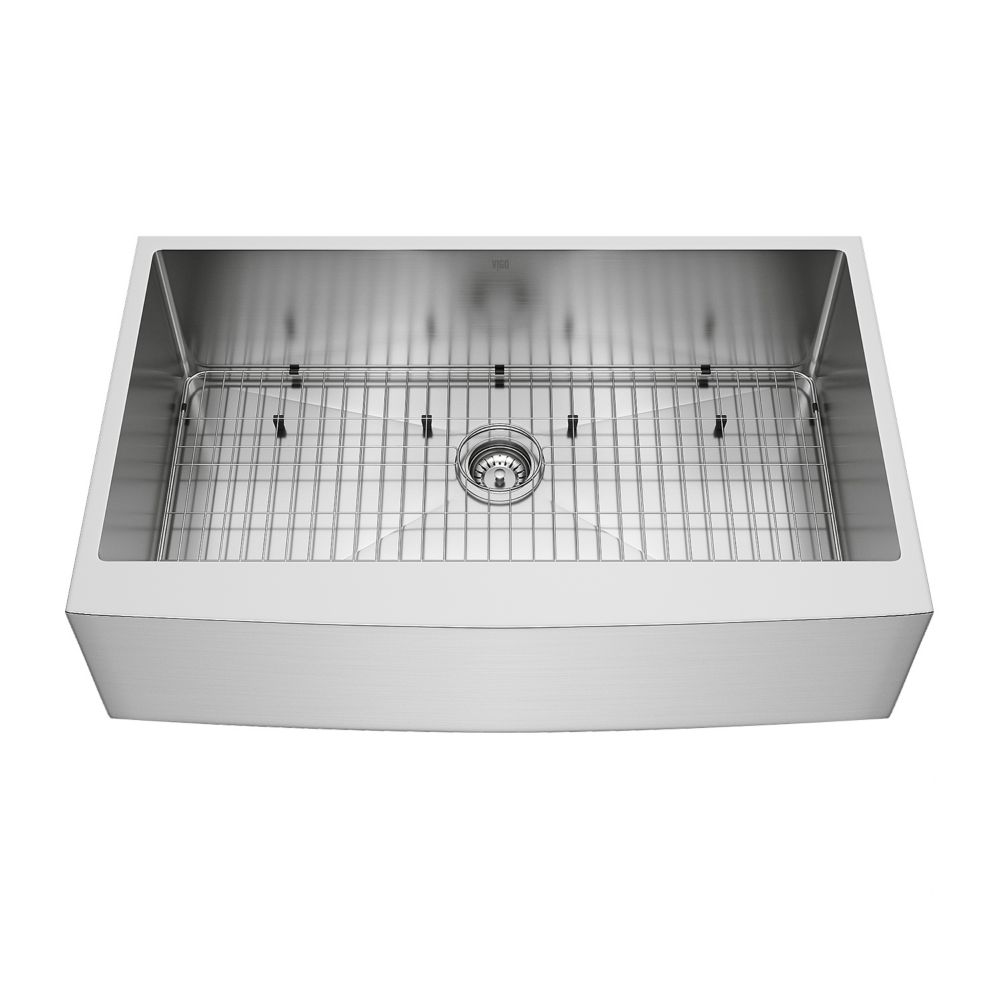 Stainless Steel Farmhouse Kitchen Sink Grid and Strainer 36 Inch 16 gauge