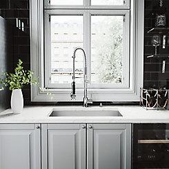 Vigo Stainless Steel All In One Undermount Kitchen Sink And Chrome
