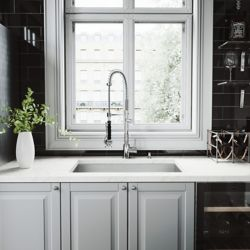 VIGO All-in-One Undermount Stainless Steel 30 inch Single Bowl Kitchen Sink in Chrome