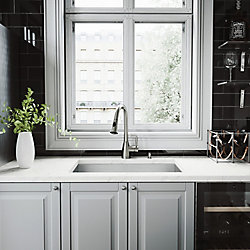 VIGO All-in-One Undermount Stainless Steel 30 inch Single Bowl Kitchen Sink in with Pull Down Faucet in Stainless Steel