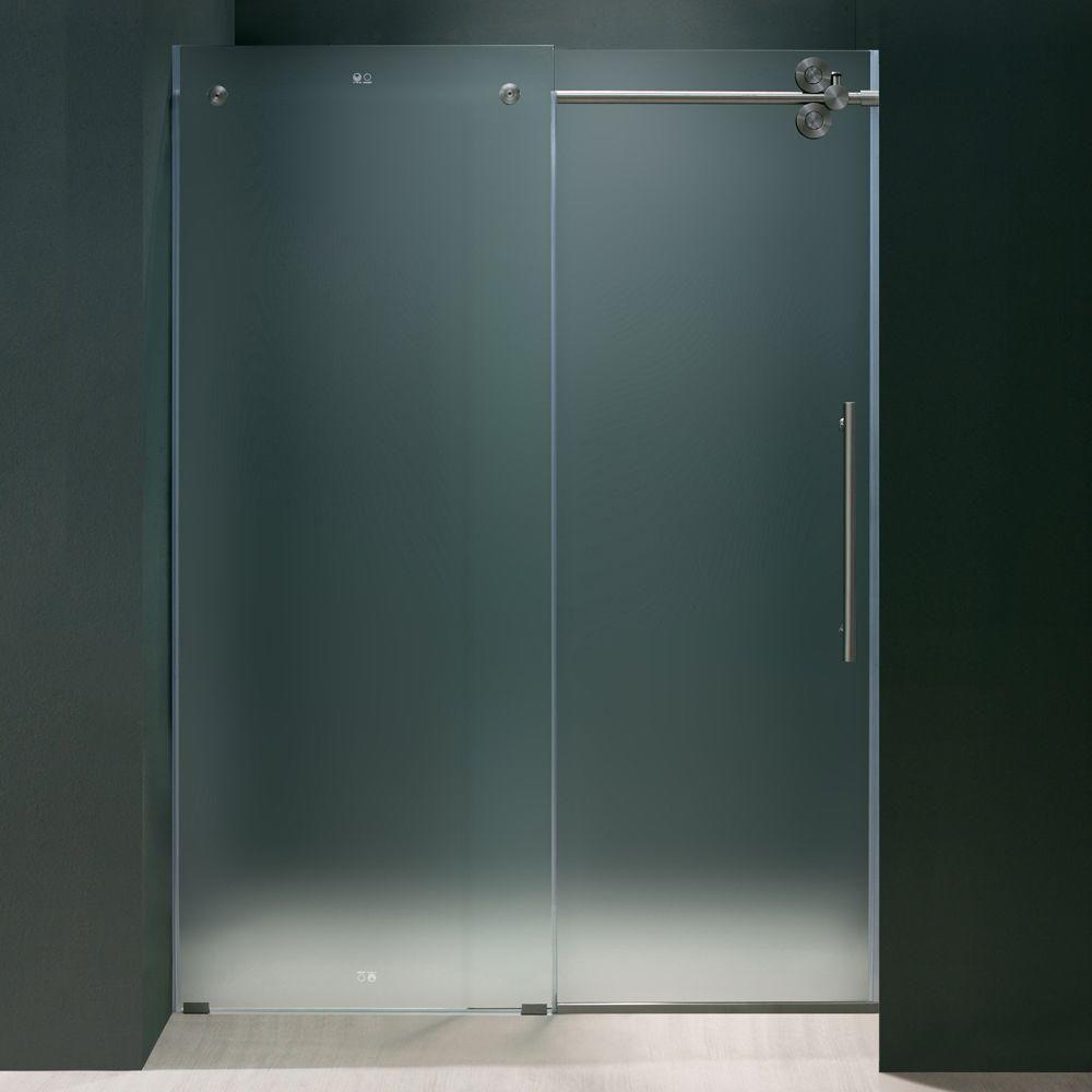 Nautis gs 37 in x 72 in completely frameless hinged for Discount frameless shower doors