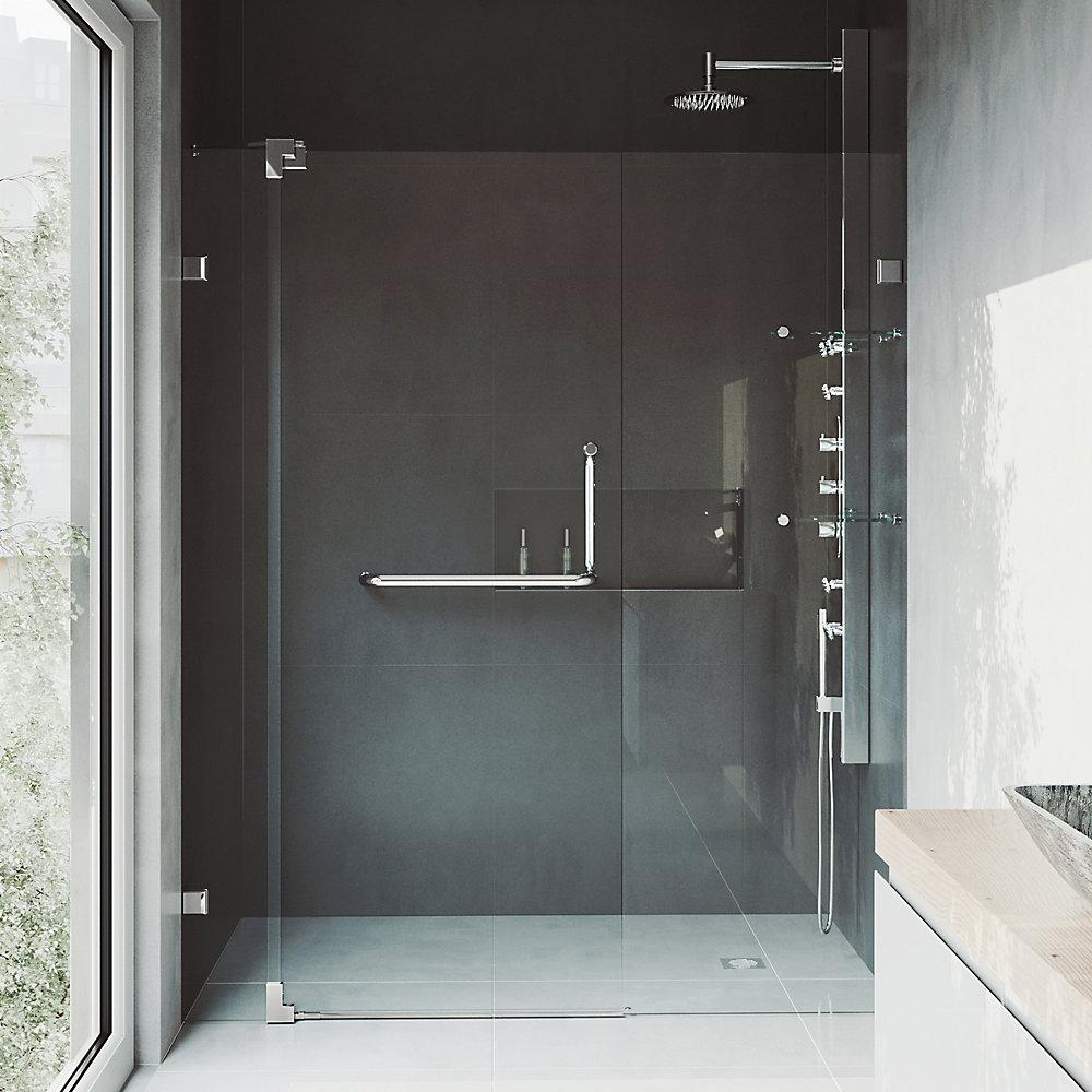 Porte de douche pivotante sans cadre et réglable Pirouette de